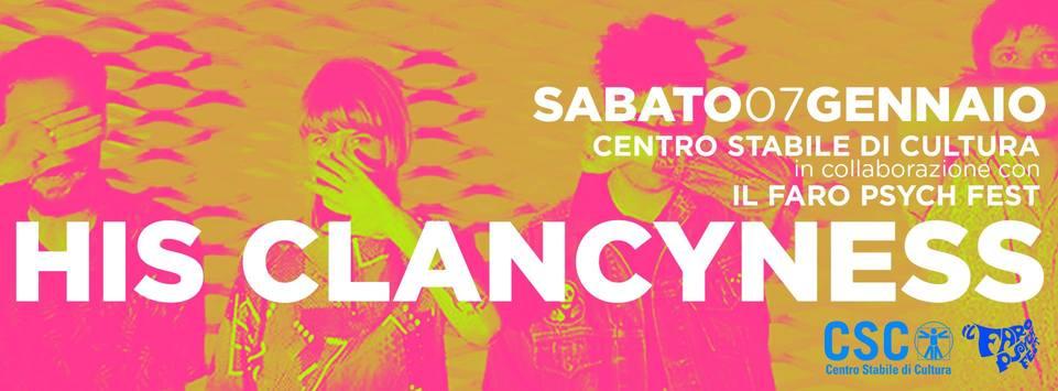 His Clancyness sabato 7 gennaio al CSC di San Vito di Leguzzano ... - Più o Meno POP (Comunicati Stampa) (Blog)
